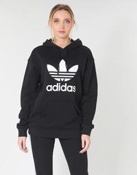 Ruhák Női Pulóverek adidas Originals TRF HOODIE Fekete