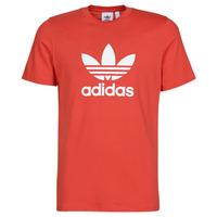 Ruhák Férfi Rövid ujjú pólók adidas Originals TREFOIL T-SHIRT Piros / Kuxus