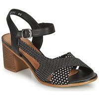 Cipők Női Szandálok / Saruk Remonte Dorndorf MOSKI Fekete  / Fehér