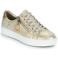 Cipők Női Rövid szárú edzőcipők Rieker LIROS Arany