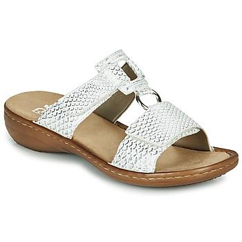 Cipők Női Papucsok Rieker MOLLY Ezüst