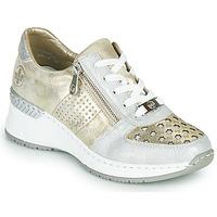Cipők Női Rövid szárú edzőcipők Rieker LEA Arany / Ezüst