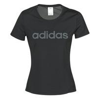 Ruhák Női Rövid ujjú pólók adidas Performance D2M LO TEE Fekete
