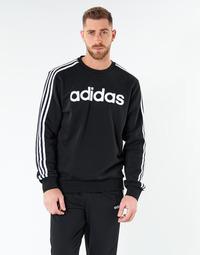 Ruhák Férfi Pulóverek adidas Performance E 3S CREW FL Fekete
