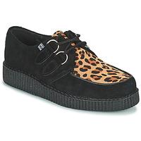 Cipők Oxford cipők TUK LOW FLEX ROUND TOE CREEPER Fekete  / Leopárd