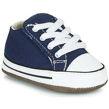 Cipők Gyerek Magas szárú edzőcipők Converse Chuck Taylor First Star Canvas Hi Kék