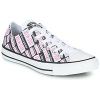Cipők Női Magas szárú edzőcipők Converse CHUCK TAYLOR ALL STAR LOGO PLAY Fehér / Rózsaszín / Fekete