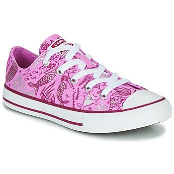 Cipők Lány Magas szárú edzőcipők Converse Chuck Taylor All Star Underwater Party Rózsaszín / Multi