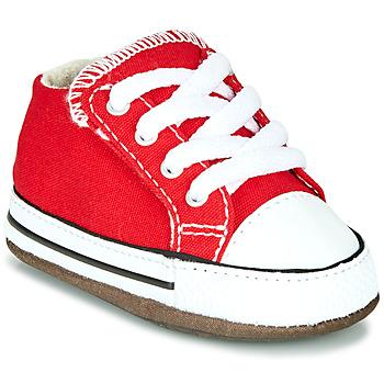 Cipők Gyerek Magas szárú edzőcipők Converse CHUCK TAYLOR ALL STAR CRIBSTER CANVAS COLOR Piros