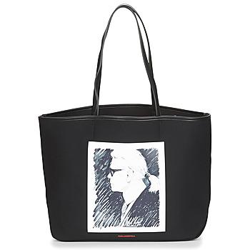 Táskák Bevásárló szatyrok / Bevásárló táskák Karl Lagerfeld KARL LEGEND CANVAS TOTE Fekete
