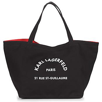 Táskák Női Bevásárló szatyrok / Bevásárló táskák Karl Lagerfeld RUE ST GUILLAUE CANVAS TOTE Fekete