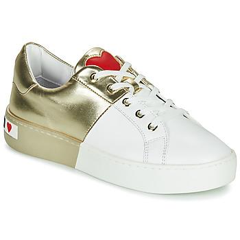 Cipők Női Rövid szárú edzőcipők Love Moschino BI-COLOR SHOES Fehér / Arany