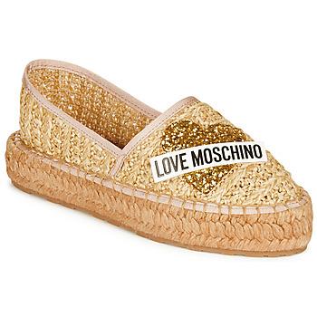 Cipők Női Gyékény talpú cipők Love Moschino JA10393G0A Bézs