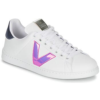 Cipők Női Rövid szárú edzőcipők Victoria TENIS VINILO Fehér / Kék