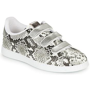 Cipők Női Rövid szárú edzőcipők Victoria TENIS SERPIENTE VELCRO Szürke
