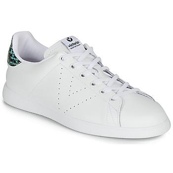 Cipők Női Rövid szárú edzőcipők Victoria TENIS PIEL SERPIENTE Fehér / Kék