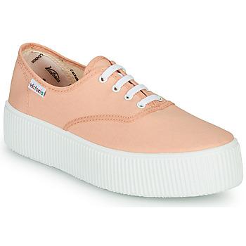 Cipők Női Rövid szárú edzőcipők Victoria DOBLE LONA Korall