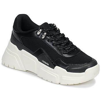 Cipők Női Rövid szárú edzőcipők Victoria TOTEM Fekete  / Fehér