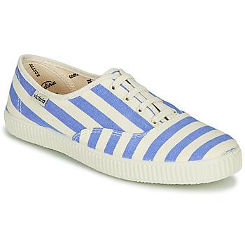 Cipők Női Rövid szárú edzőcipők Victoria NUEVO RAYAS Fehér / Kék
