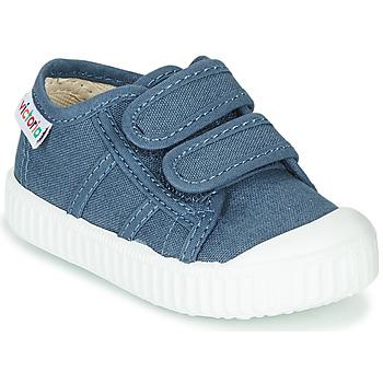Cipők Gyerek Rövid szárú edzőcipők Victoria BASKET VELCRO Kék