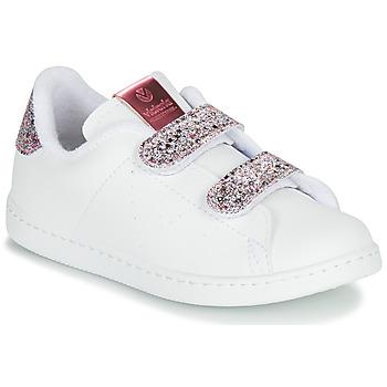 Cipők Lány Rövid szárú edzőcipők Victoria TENIS VELCRO G Fehér
