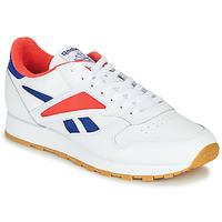 Cipők Férfi Rövid szárú edzőcipők Reebok Classic CL LEATHER MARK Szürke / Fehér / Piros