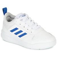 Cipők Fiú Rövid szárú edzőcipők adidas Performance TENSAUR K Fehér / Kék