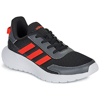 Cipők Fiú Rövid szárú edzőcipők adidas Performance TENSAUR RUN K Fekete  / Piros