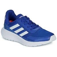 Cipők Fiú Rövid szárú edzőcipők adidas Performance TENSAUR RUN K Kék / Fehér