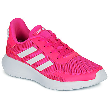 Cipők Lány Rövid szárú edzőcipők adidas Performance TENSAUR RUN K Rózsaszín / Fehér
