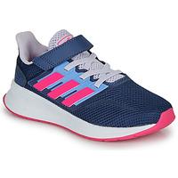 Cipők Női Rövid szárú edzőcipők adidas Performance RUNFALCON C Kék / Rózsaszín