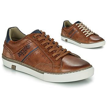 Cipők Férfi Rövid szárú edzőcipők Dockers by Gerli 46CM002-440 Konyak