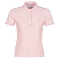 Ruhák Női Rövid ujjú galléros pólók Lacoste PH5462 SLIM Rózsaszín