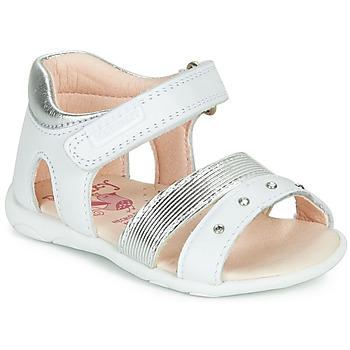 Cipők Lány Szandálok / Saruk Pablosky DINNA Fehér / Ezüst