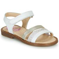 Cipők Lány Szandálok / Saruk Pablosky PINNA Fehér / Gyöngyházszínű