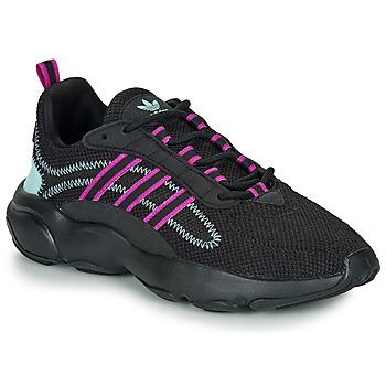 Cipők Női Rövid szárú edzőcipők adidas Originals HAIWEE W Fekete  / Lila