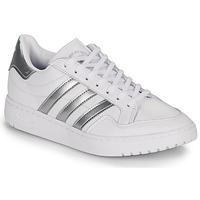 Cipők Rövid szárú edzőcipők adidas Originals MODERN 80 EUR COURT W Fehér / Ezüst
