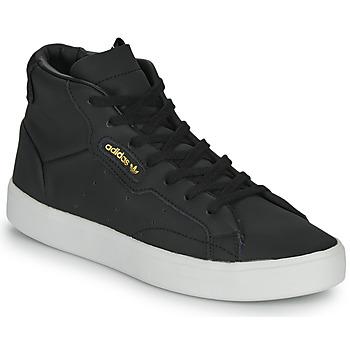 Cipők Női Rövid szárú edzőcipők adidas Originals adidas SLEEK MID W Fekete