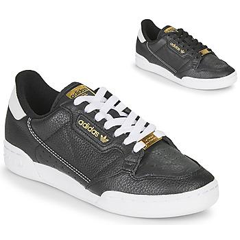 Cipők Női Rövid szárú edzőcipők adidas Originals CONTINENTAL 80 Fekete
