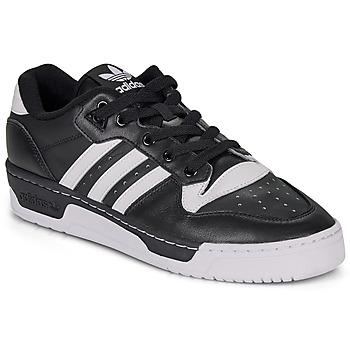Cipők Rövid szárú edzőcipők adidas Originals RIVALRY LOW Fekete  / Fehér