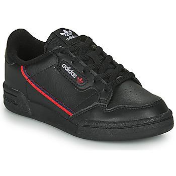 Cipők Gyerek Rövid szárú edzőcipők adidas Originals CONTINENTAL 80 C Fekete