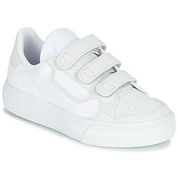 Cipők Gyerek Rövid szárú edzőcipők adidas Originals CONTINENTAL VULC CF C Fehér / Bézs
