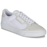 Cipők Gyerek Rövid szárú edzőcipők adidas Originals CONTINENTAL VULC J Fehér / Bézs