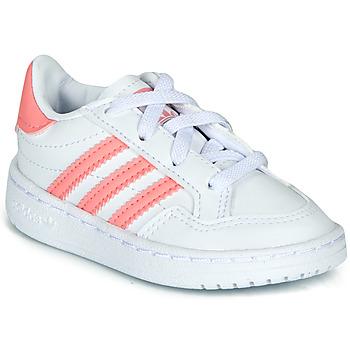 Cipők Lány Rövid szárú edzőcipők adidas Originals NOVICE EL I Fehér / Rózsaszín