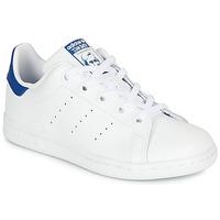Cipők Gyerek Rövid szárú edzőcipők adidas Originals STAN SMITH C Fehér / Kék