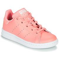 Cipők Lány Rövid szárú edzőcipők adidas Originals STAN SMITH C Rózsaszín