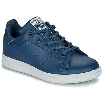Cipők Fiú Rövid szárú edzőcipők adidas Originals STAN SMITH C Kék