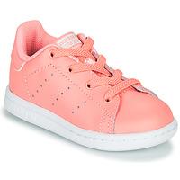 Cipők Lány Rövid szárú edzőcipők adidas Originals STAN SMITH EL I Rózsaszín