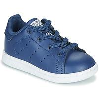 Cipők Fiú Rövid szárú edzőcipők adidas Originals STAN SMITH EL I Tengerész