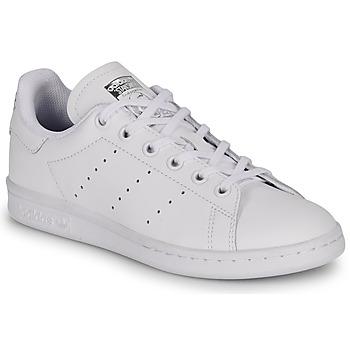 Cipők Gyerek Rövid szárú edzőcipők adidas Originals STAN SMITH J Fehér